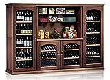 Ip Industrie - Mobile cantina refrigerata legno massello 4 porte in vetro e 4 celle capienza complessiva 376 bottiglie