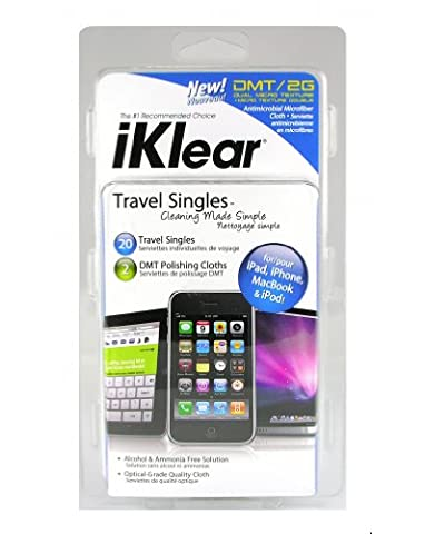 iKlear Travel Singles Cleaning Cloths Pack of 20