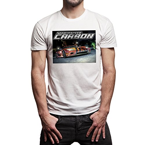 Need For Speed The Run Underground Carbon Car Background Herren T-Shirt Weiß