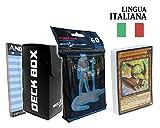 Andycards Structure Deck Furia del Dinodistruttore - Mazzo Yugioh SR04 in Italiano + 60 Bustine Protettive God-Player Nere + Deck Box Nero + Segnapunti