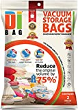 DIBAG TM - Set of 2-Vacuum Storage Space Saver Bags Cube with Gussets, 100 x 80 x 32 cm.