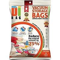 DIBAG ® 2 Buste - sacchetti di immagazzinaggio di vuoto salvaspazio cubico (100*80*32 cm) con Fazzoletti .per l