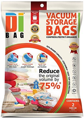 DIBAG ® - 2 Piezas (180*80*32 cm) Bolsas de almacenaje al vacío cubo .Bolsas ahorradoras de espacio para ropa, edredones , mantas & almohadas