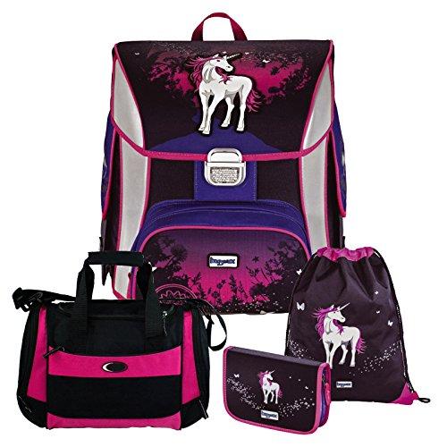 #UNICORN – Einhorn Pferd – Baggymax SIMY Leicht-Schulranzen Set 4tlg. Hama mit SCHULSPORTTASCHE#