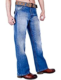 Arrested Development Mens Classic Bootcut Fit Jeans Darkwash Lightwash Grey & Black