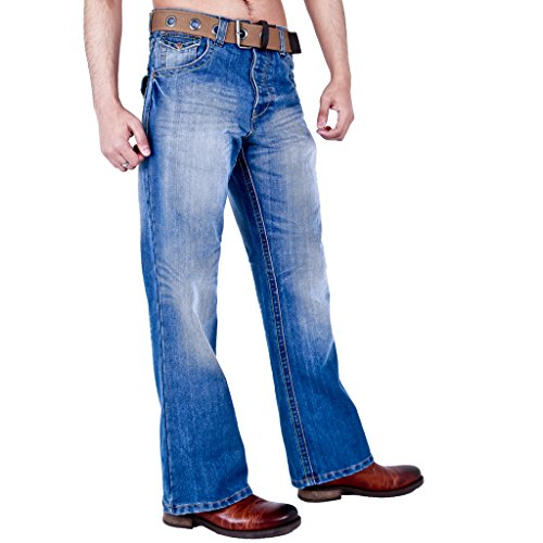 Enzo EZ15, Vaqueros Relaxed para Hombre, Azul (Midwash), 30W/30L amazon azul Jeans
