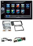 caraudio24 Blaupunkt Santa Cruz 370 SD Bluetooth 2DIN MP3 USB Autoradio für Volvo S60 V70 XC70 (04-09)