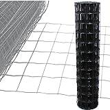 Gartenzaun Anthrazit - 10m Länge x 1,2 m Höhe + kostenloser Versand / Maschendraht Zaun Gitterzaun Maschung 10x7,5 cm Schweißgitter Wildzaun 10m x 1,2m