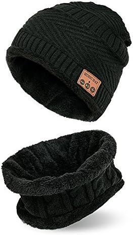 TYXQ Cappello Cappello Cappello Beanie blutooth,Cuffie Wireless Cappello e Sciarpa Set, Beanie per Jogging Corsa da Viaggio Cappello da Musica Caldo da Donna Cappello da Microfono Lavabile Incorporato | I Materiali Superiori  | riparazione  776f93
