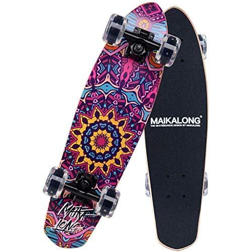 Jolly 27 '' Skateboard kommt komplett 8-lagiges Ahornholz Double Kick Pro Skateboards für Teens Anfänger Jugendliche Kinder Anfänger und Profis (Color : Mary) -