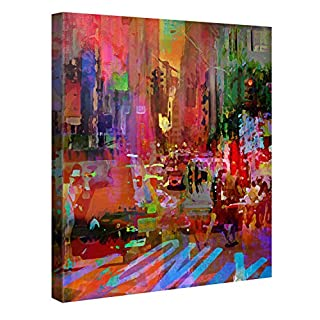 Big City Life – Premium Canvas Art Print Wall Decor – 80x80cm XXL Giclee Canvas Print, Wall Art Canvas Picture, Canvas Picture Stretched on a Frame, Canvas Image in High Definition