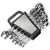 YONGYAO 8/10/12/13/14/17/17Mm 6Pcs Chiave A Cricchetto Combinazione Hardware Interno Esagono Auto Riparazione Strumenti