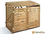 Cache poubelle en bois traité double First