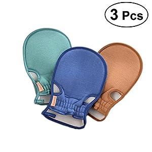 Frcolor 1Pack Soft Peeling Duschhandschuh, sorgfältig von hochwertigen synthetischen Gesundheit Stoff für Bad Schwamm Pads, Dusche Hocker, Rücken, Scrubber, Dusche Handschuh, Duschhandschuhe – speziell für Frauen SOFT SKIN (zufällige Farbe)