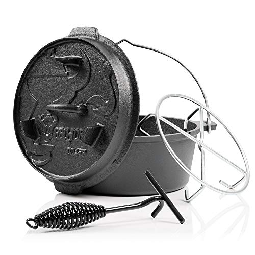 BBQ-Toro Dutch Oven Premium Serie I bereits eingebrannt - preseasoned I Verschiedene - Dutch Grillbrikett Oven