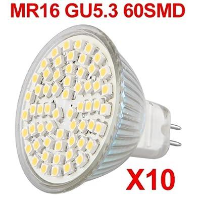 10x Mr16 Gu 53 60 Smd Led Lampe Licht Strahler Leuchte Warmwei