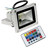 Hanumex 10W RGB Led Flood Light with Remote Control,Waterproof,Ip65,16 Color,4 Effect-10 Watt (Pack of 1)