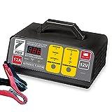 AUTO7 708945 Chargeur de batterie 100% Automatique 12 A 12 V Gris/Noir