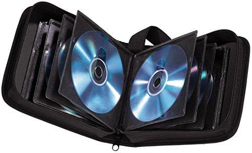 Hama CD Tasche (für 40 CDs/DVDs/Blu-rays, Mappe zur Aufbewahrung) schwarz
