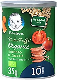 Gerber Organic NutriPuffs Tomato & Carrot Baby Food Can,