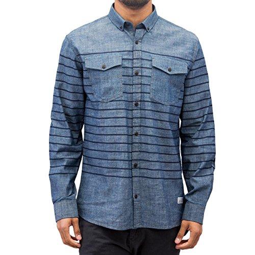 SHINE Original Uomo Maglieria / Camicia Striped Chambray Blu