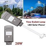 MOMAMO 20w Led Luz Solar Lámpara, Al Aire Libre Movimiento Seguridad Impermeable Solar Lámpara, con El Sensor Rotatorio Inductivo Humano