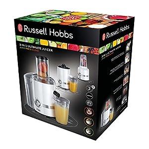 Russell Hobbs Ultimate 3 in 1 Juicer 22700-56 Frullatore/Centrifuga/Spremiagrumi, 800 Watt, Acciaio Inossidabile, Nero - 2020 -
