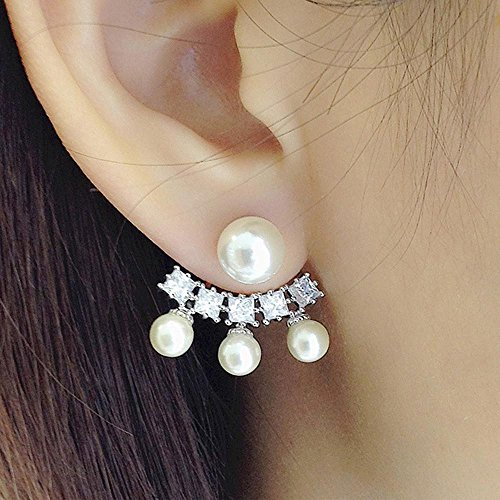 stile di modo orecchini di zircone bella signora dono orecchini di perle temperamento gioielli , silver