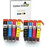 8 ColourDirect Compatible Cartouche D'encres Pour HP 364XL - Photosmart B010a B109 B109a B109c B109d B109f B109g B109 B110 B110a B110c B110d B110e B209 B209a B209b B209c B210 B210a B210b B210c B210e