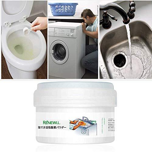 Womdee Oxygen Wc-Reiniger Schaum, Schäumender Multifunktionsreiniger für Starke Reinigung/Baggern/Desodorieren, Geeignet für WC, Küche, Pipeline, Waschmaschine, Spüle
