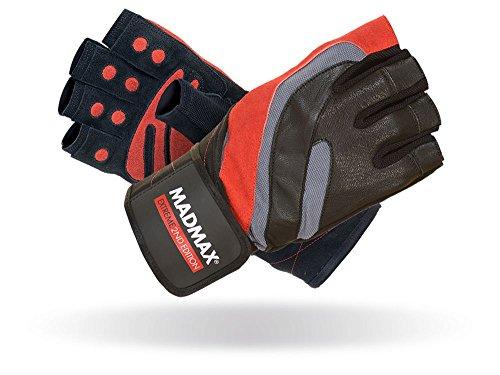 MAD MAX Extreme 2nd Edition Handschuhe Gym Fitness Gewichtheben Handschuhe Herren Bodybuilding Workout Sports Trainingshandschuhe (XXL, Black/Red)