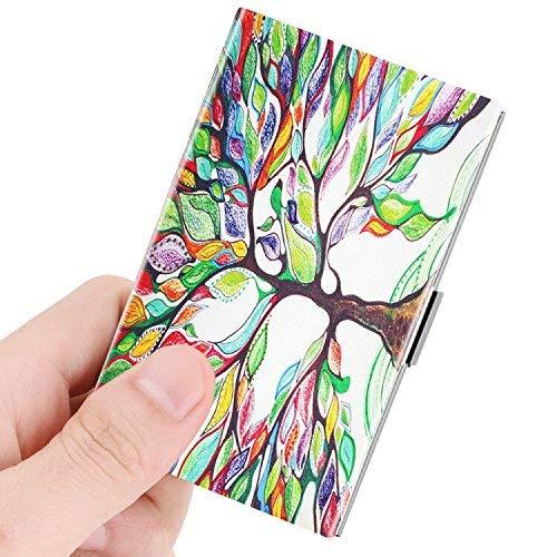 Fintie Visitenkartenhalter (Edelstahl) Z-Love Tree - Mikrofaser-wallet-karte
