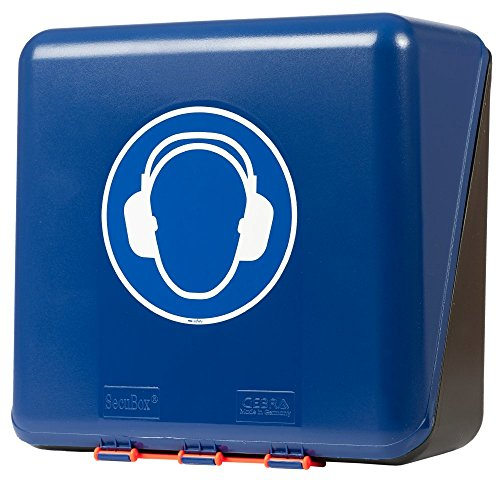 neoLab 2-6061 Aufbewahrungsbox f. Kapselgehörschützer, midi, Blau