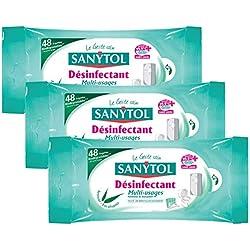 Sanytol Lingettes Multi-Usages Désinfectantes x 48 - Lot de 3