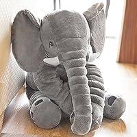 Elephant Baby Pillow Grey Animal Plush Soft Toy For Children Kids Sleeping Cotton Cushion