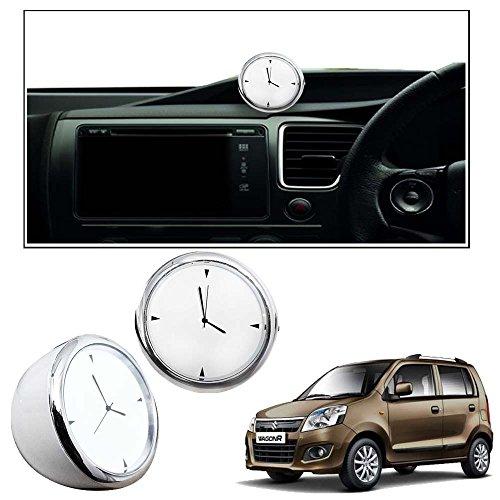 Vheelocityin 2inch White Car Dashboard Clock Watch Car Watch For Maruti Suzuki Wagon R 1.0 New