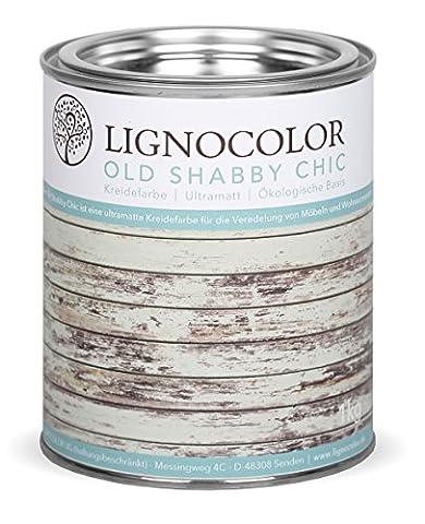 Lignocolor Kreidefarbe Shabby Chic Lack Vintage Look 1kg NEUE FARBTÖNE!