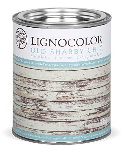Kreidefarbe Shabby Chic Lack Landhaus Stil Vintage Look Chalky finish1kg (Moon Grey)
