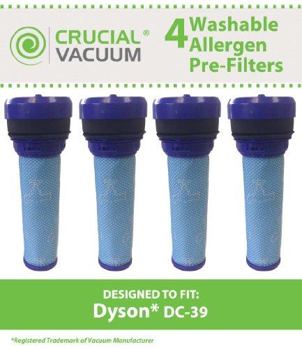 Crucial Vacuum 4Dyson DC39waschbar & wiederverwendbar Pre Motor Filter; für Dyson DC39Kanister Leerstellen; Vergleichen zu Teil # 923413–01; Entworfen und Hergestellt
