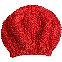 Twisted Girl Beret Sombrero hecho punto Mantener Caliente Cap Multicolor Moda