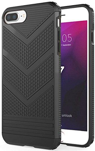 iPhone 7 Hülle, Pasonomi Weich Silikon Handyhülle für Apple iPhone 7 (Gold) Schwarz