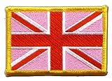 Flaggen Aufnäher Großbritannien Union Jack Pink Fahne