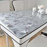 Verdickte pvc-tischdecke Wasserdichte ölbeständige hochtemperatur Kaffeetischmatte Kunststoff tischdecke transparent frosted crystal board-E 90x150cm(35x59inch)