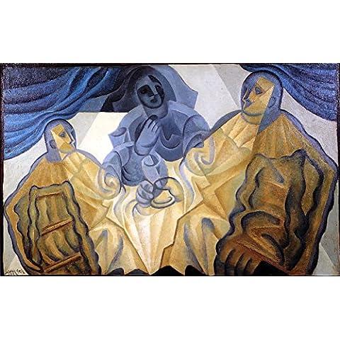 12 x 20,32 cm Impresionismo otros OdsanArt Post 'los tres de máscaras de' por Juan Póster de Gris artstore
