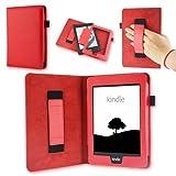 NAUC Schutz-Tasche-Hülle-Cover-Kindle Paperwhite-Ebook-Case Reader Schutzhülle, Farben:Rot