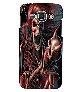 ColourCraft Rockstar Skeleton Design Back Case Cover for SAMSUNG GALAXY ACE 3 S7272 DUOS