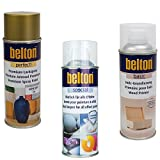 KWASNY_bundle LACKIER Set Belton Perfect LACKSPRAY Gold + Holz-GRUNDIERUNG + KLARLACK 400 ML