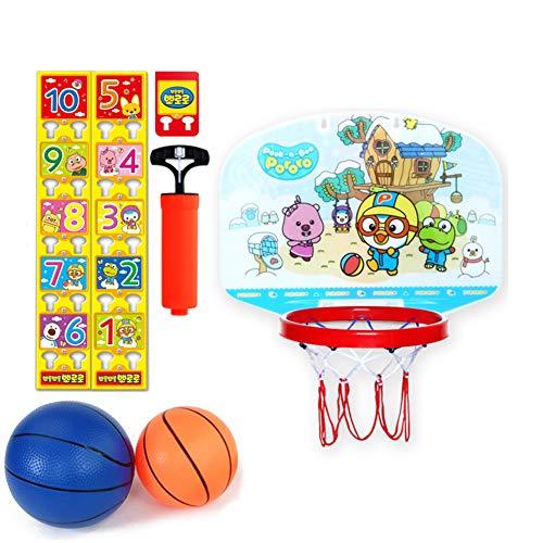 BXWQPP Basketballkorb Hängendes Kunststoff Cartoon Aufkleber Basketballständer Kinder im Outdoor und Indoor Basketballanlage Korbanlage Stabile