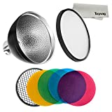 Godox ad-s2Standard-Reflektor mit weichem Diffusor und ad-s11Fotografie Farbe Filter Gel Pack für WITSTRO Blitz AD200AD180AD360ad360ii