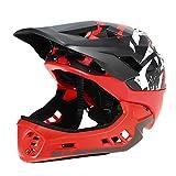 Lixada GUB Abnehmbare Full Face Helm für Kinder Radfahren Skating Reflektierende Schutzhelm mit Visier und Warnlicht